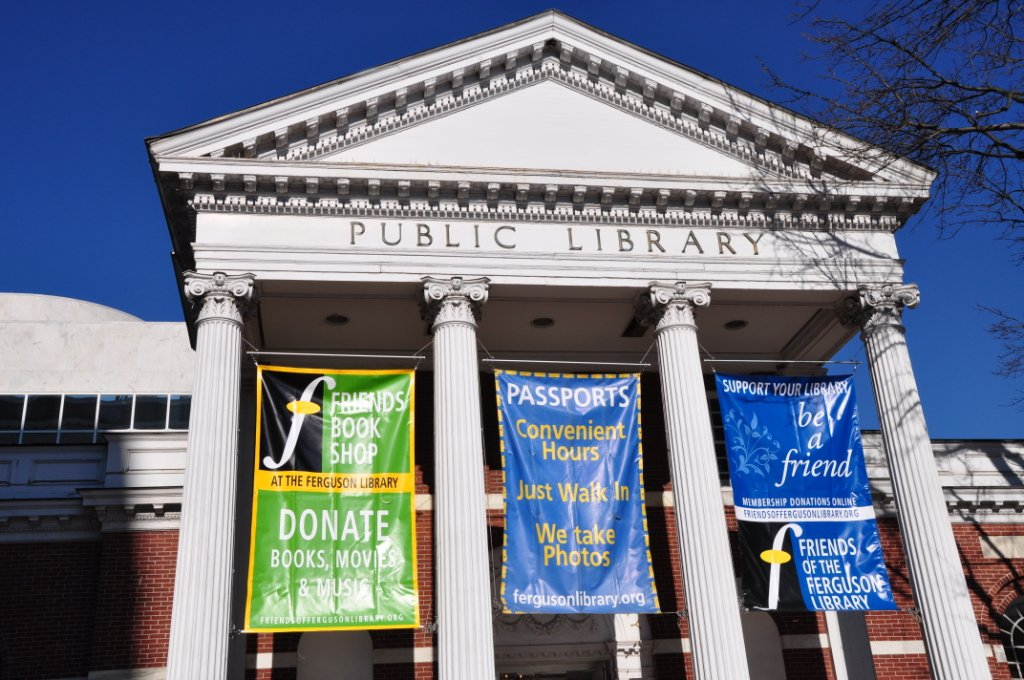 Ferguson Library entrance