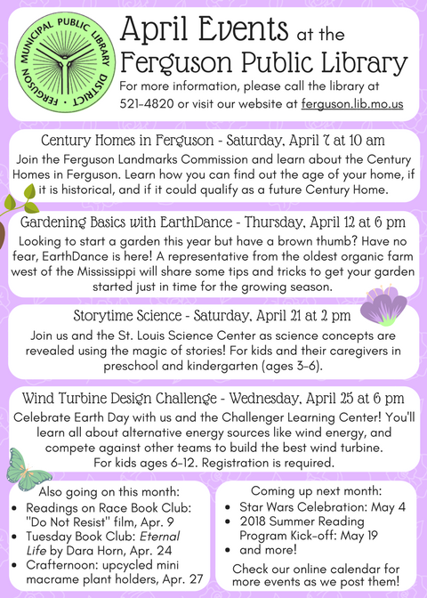 Library april-events Poster